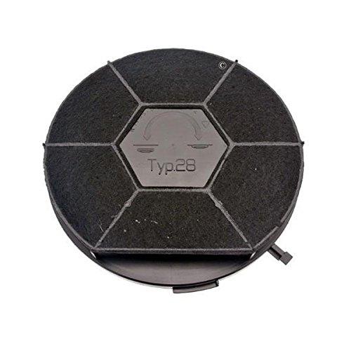 Filtre charbon rond type 28 CHF28/1 (à l'unite) - Hotte - ARTHUR MARTIN, ELECTROLUX, WHIRLPOOL, SCHOLTES