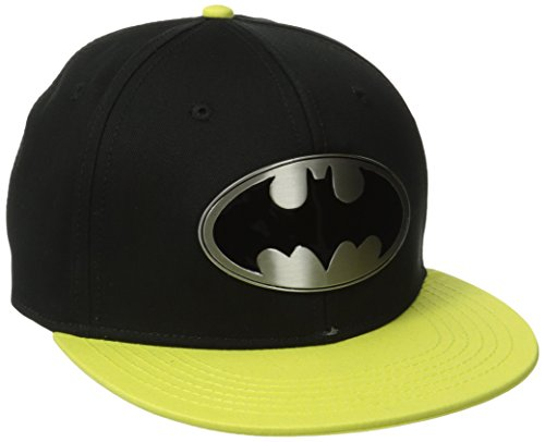 DC Comics Batman Metal Badge Logo Snapback Baseball Cap