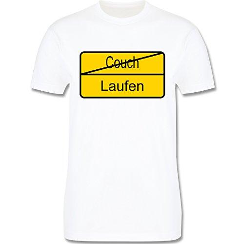 Laufsport - Laufen - Herren Premium T-Shirt Weiß