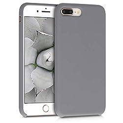 kwmobile Apple iPhone 7 Plus / 8 Plus Hülle - Handyhülle für Apple iPhone 7 Plus / 8 Plus - Handy Case in Titanium Grey