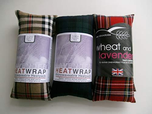 Weizen Herbal Heat Pack mit Lavendel-Tartan - Microwavable Heat Pack