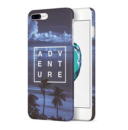 Maceste Adventure Night Beach Summer Ocean Good Vibes Kompatibel mit iPhone 7 Plus/iPhone 8 Plus SnapOn Hard Plastic Phone Protective Fall Handy Hülle Case Cover -
