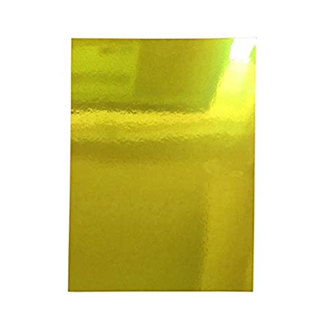 20 sheets of A4 Shiny Mirror Foil Card 220gsm Thick Single Sided. 5 Colours. Christmas Crafts