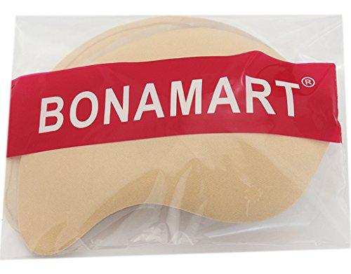 BONAMART ® Bügelloser BH Unsichtbar Zum Kleben Push Up für Rückenfreie Kleider Hautfarbe C CUP