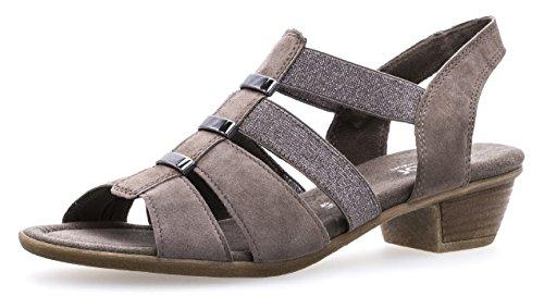 Gabor Damenschuhe 82.472.78 Damen Sandaletten, Sandalen, Sommerschuhe, Strandschuhe, Mehr Raum Dank Comfort-Mehrweite Braun (Mineral), UK 5.5
