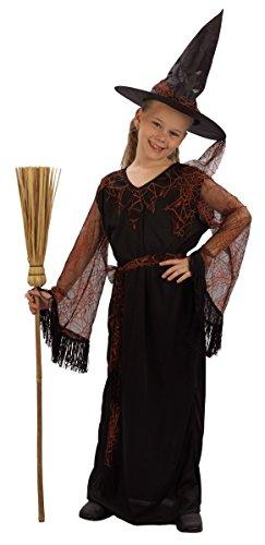 Hexen-Kostüm für Mädchen 140/152 (10-12 Jahre) (Mädchen Band Halloween Kostüme)