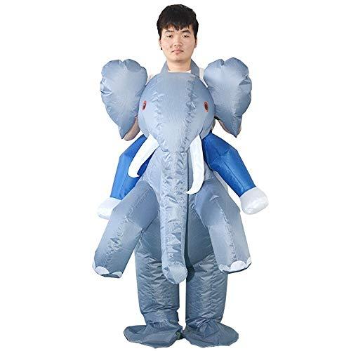 Erwachsene Elefant Aufblasbare Kostüm Für - Shoieor Erwachsene Elefant aufblasbares Kostüm Prop Blow Up aufblasbares Kostüm for Halloween,Das Leben ist zu kurz (Farbe : Grau)