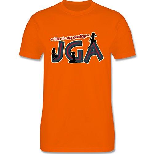 JGA Junggesellenabschied - JGA PinUp Girls - Herren Premium T-Shirt Orange