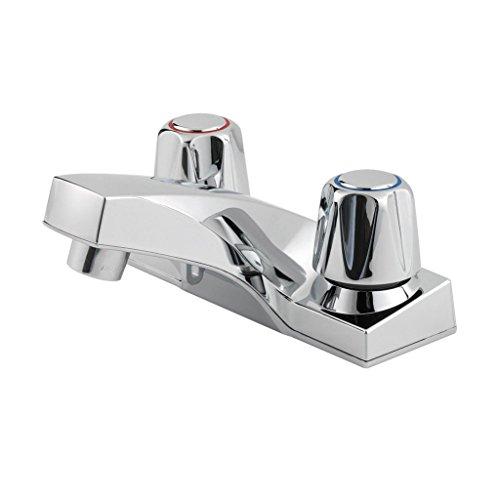 Pfister lg1435000pfirst Serie Spültischmischbatterie 10,2cm Centerset Badezimmer Wasserhahn in poliertem Chrom, water-efficiemt Modell -