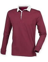Front Row Herren Premium Longsleeve / Rugby-Shirt / Polo-Hemd, langärmlig