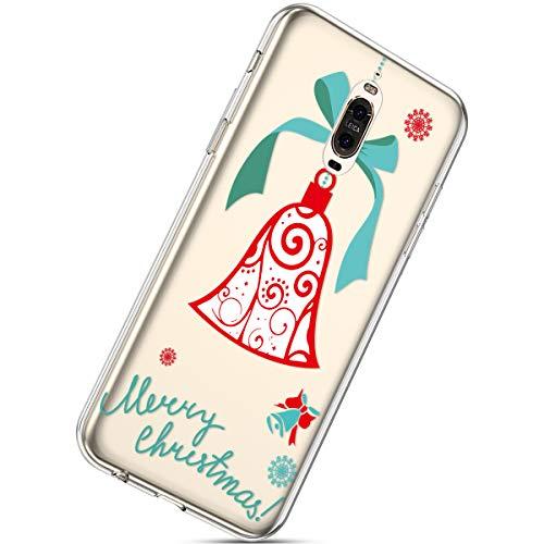 Kompatibel mit Handytasche Huawei Mate 9 Pro Silikonhülle Cover Durchsichtige Handyhülle Silikon Kristall Klar Transparent Schutzhülle Crystal Clear Handycover Dünn Bumper Tasche,Ring