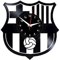 EVEVO FC Barcelona Reloj de Pared Vinilo Tocadiscos Retro de Reloj Grande  Relojes Style habitación Home fba39402165