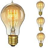KINGSO 60W E27 Edison Vintage Lampe Antike Glühbirne Ideal für Nostalgie und Retro Beleuchtung...