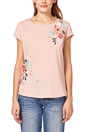 ESPRIT Damen T-Shirt 048EE1K034, Rosa (Old Pink 680), Small