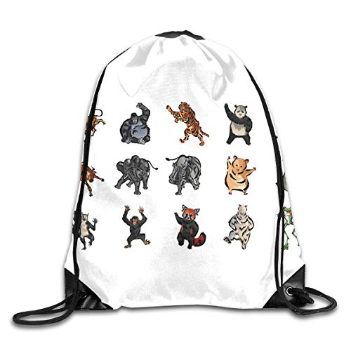 Ccsoixu Drawstring Backpack Gym Bag Travel Backpack Animals Collection Small Drawstring Backpacks Women Men Adults,Drawstring Bag Sport Gym Backpack Gym Bag for Men and Women -