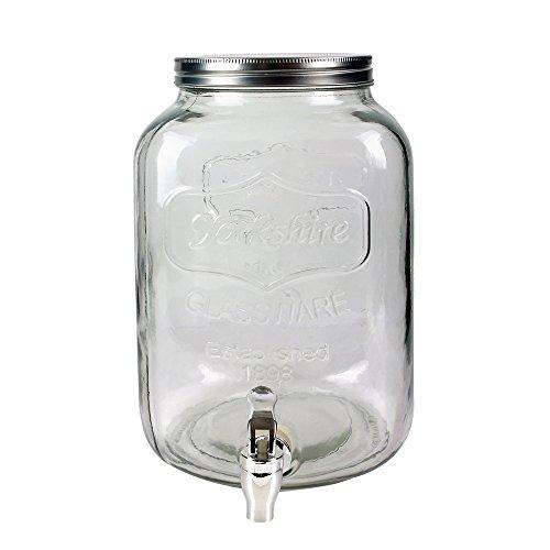 Saveur & Dégustation KV7177 - Dispensador de bebidas de cristal transparente, 18 x 18 x 31 cm