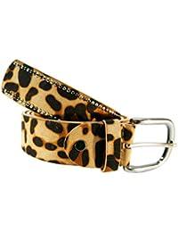 Cinturon tachuelas mujer leopardo cuero piel animal print 5c310f376c55