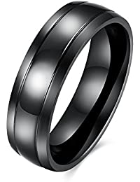 YAZILIND moda joyería exquisita negro pistolas anillo plateado acero de titanio