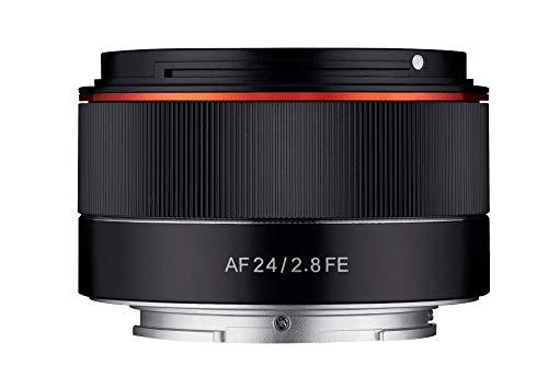 Samyang AF 24mm F2.8 FE (Tiny but Wide) - Vollformat 24mm Weitwinkel Festbrennweite Autofokus Objektiv für Sony E, FE, E-Mount, für Sony A9, A7, A6500, A6300, A6000, A5100, A5000, Nex Kameras