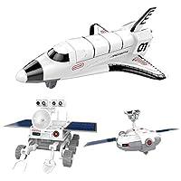 Vektenxi 3 in 1 Solar Power Educational Toy Spaceship Lunar Exploration Fleet DIY Solar Transfomation Robot Kits Novelty Kids Gift High Quality