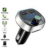 JEANS DREAM Trasmettitore Bluetooth per Auto Kit Vivavoce Bluetooth con Chiamata a Mani Libere FM Lettore MP3 Supporto Scheda TF Disco USB