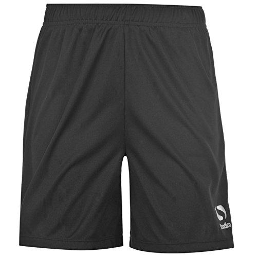 Sondico Kids Core FB Shorts Juniors Boys Sports Training Football Pants Bottoms Black 11-12 (LB)