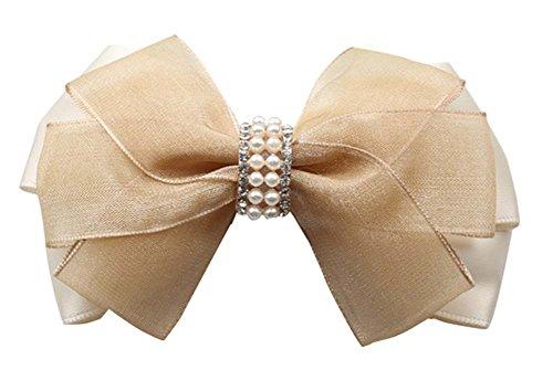2 pcs Cheveux élégant Chuck Cheveux Ornements épingle à cheveux en Soie Gaze Folder Princess Clip