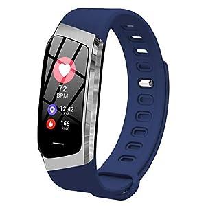 Loluka Unisex Fitness Tracker Digital Quarz Silikon Herzfrequenz Blutdruck Schrittzähler