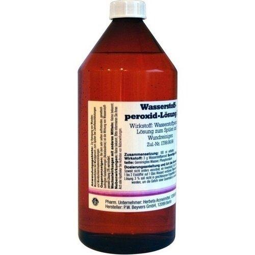 Wasserstoffperoxid-Lösung 3%, 1000 ml Lösung