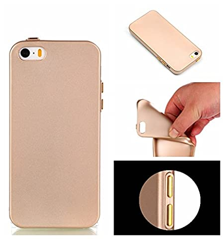 Batterie Gold Iphone 5s - Anfire iPhone 5s Coque TPU High-Tech Silicone