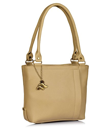Fostelo Women's Diana Shoulder Bag (Beige) (FSB-951)