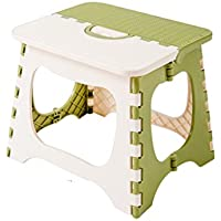 Preisvergleich für YYdy-Polsterhocker Kunststoff zusammenklappbaren Hocker für Wohnzimmer Schlafzimmer Badezimmer Küche, Kind Erwachsene Outdoor Tragbare Hocker (Farbe : A, größe : L)