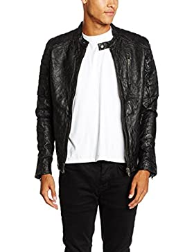 JACK & JONES VINTAGE Jjvrichard Lamb Leather Jacket Noos, Chaqueta para Hombre