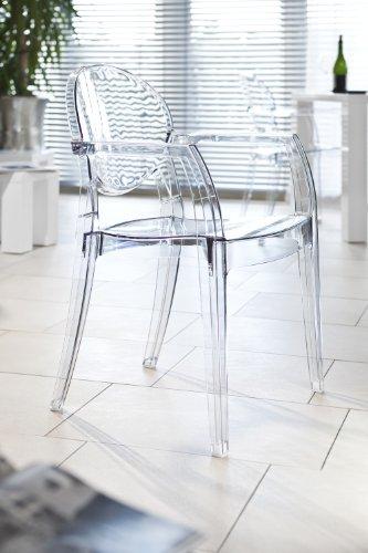 SalesFever Design Stuhl mit Armlehnen Igloo transparent - Kunststoff-stuhl Moderner