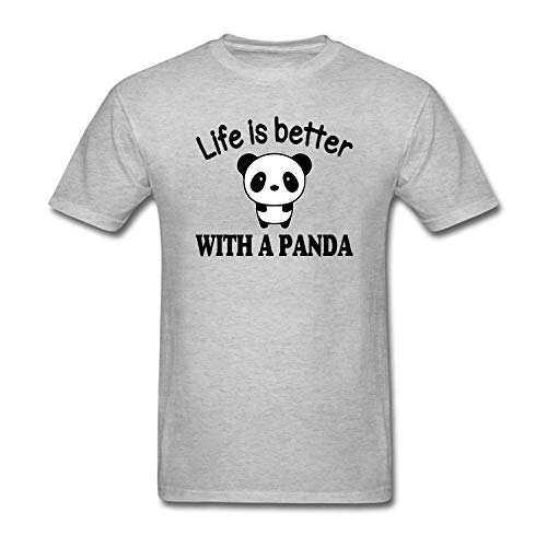 Better Tshirt Life Is With Panda A Bhydiness Mens SUpMVz