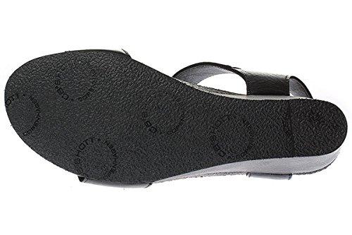 Ca'Shott Damen Sandalen schwarz/grau