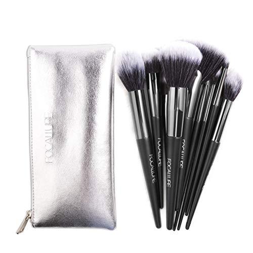 Cocohot Pinceaux de Maquillage Mis 10 pcs, Femmes Premium Professional Premium Cosmetic Pinceaux Kit Fondation Fondation Mélanger Pinceau De Maquillage (10 pcs)
