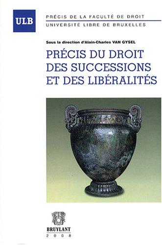 Précis du droit des successions et libéralités