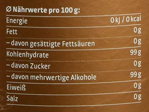 1 kg Xucker Bronxe in der Dose | Rohrzuckerersatz mit Erythrit | ohne Gentechnik | vegan | Allergen-frei | Kalorienfrei | Brauner Xucker