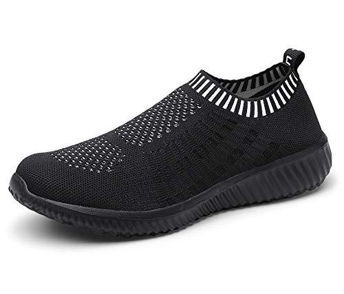 TIOSEBON HK6701, Chaussures de Marche Nordique pour Homme - - 6701 All Black, 42 2/3