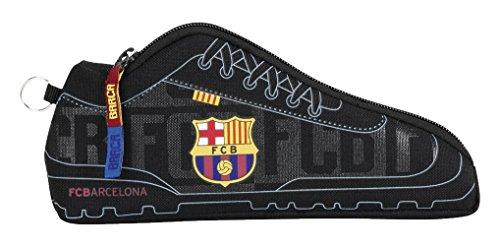 Safta Estuche F.C.Barcelona Black Oficial Escolar 240x20x100mm