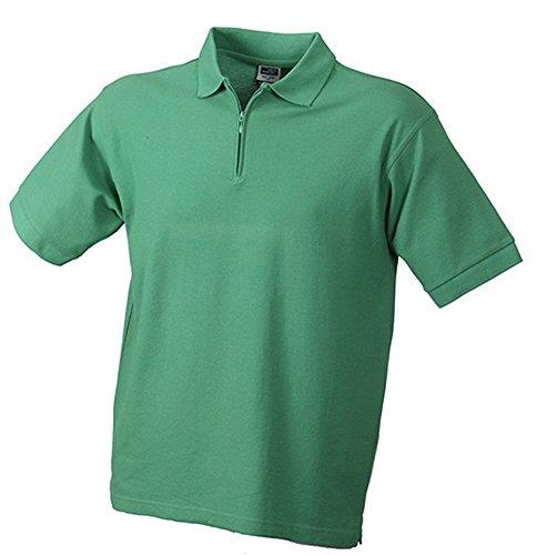 Polo-Piqué Zip Green