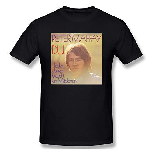 Liteschi Herren Peter_maffay-du Freizeit T-Shirts Black L Mit Herren-Kurzarm