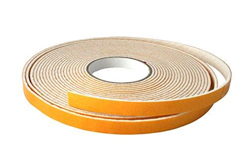 GleitGut Filzband selbstklebend - Filzklebeband Meterware - 1 Meter - Breite:10 mm - Filzstärke:3 mm - Weiss -