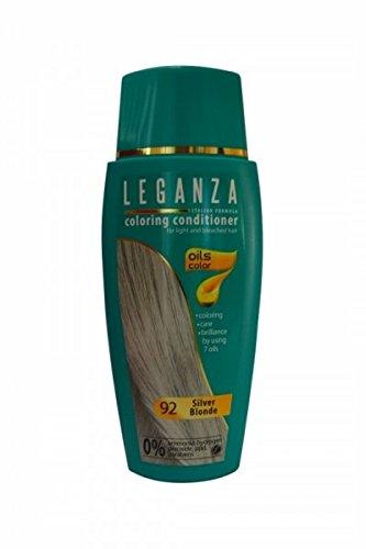 SPARSET 2 x Leganza Färbender Conditioner Farbe 92 Blond Silber Mit 7 Natürlichen Ölen Ammoniak und Paraben frei