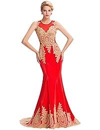 GRACE KARIN®Vestido Para Mujeres, Encajes Florales Sirena Noche Evento Ajustado Elegante 00026