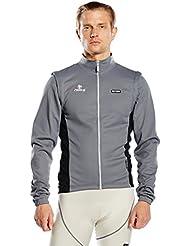 Nalini ciclismo chaqueta gris hombre negro CORNALINA