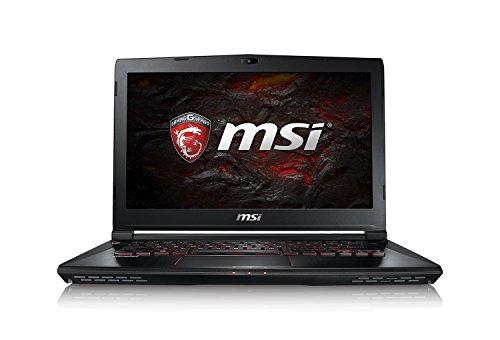 MSI GS43VR-6REAC16H21 (35,5 cm/14 Zoll) Gaming-Laptop (Intel Core i7-6700HQ Skylake, 16GB RAM, 256GB SSD + 1TB HDD, Nvidia GeForce GTX1060, Windows 10) schwarz GS43