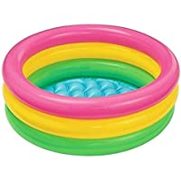 MDN 3 Feet Kid's Water Swimming Pool Bath Tub with Illustrated Bottom; Extra Wide Side Walls; Fun in Love with The Summer (Multicolour)