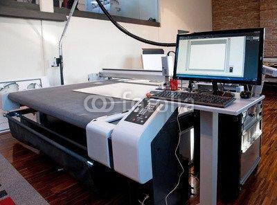 """Alu-Dibond-Bild 80 x 60 cm: """"Flatbed cutter/router (cutting plotter)"""", Bild auf Alu-Dibond"""